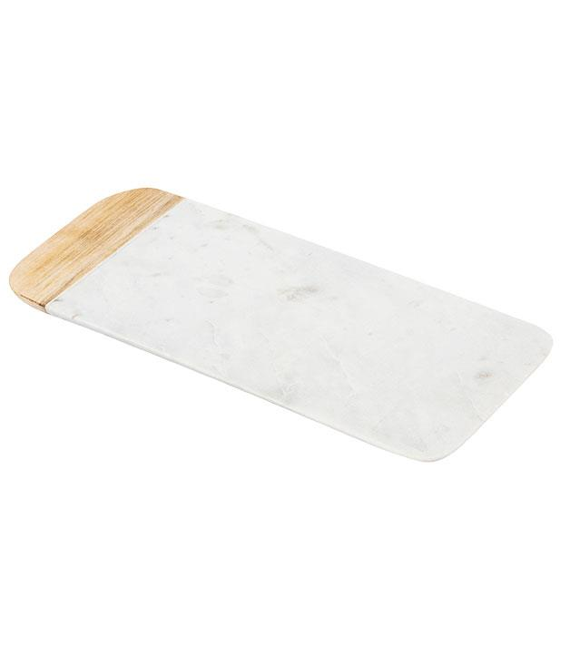 """**Chopping board** Large marble and mangowood chopping board, $59.99, from [Domayne](http://www.domayneonline.com.au """"Domayne"""")."""