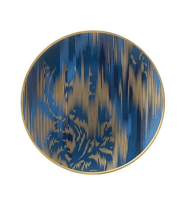 """**Voyage en Ikat plate** Voyage en Ikat plate, $315, from [Hermès](http://australia.hermes.com """"Hermes"""")."""