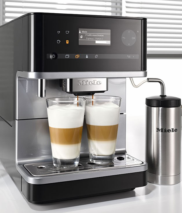 "**Miele benchtop coffee machine CM6300** This compact automatic espresso machine is perfect for small kitchens, and is designed to match Miele's Generation 6000 built-in appliances for a seamless look. Features include intuitive controls and a time-saving ""OneTouch for Two"" function that allows users to make two cups of coffee simultaneously. [Miele](http://www.mieleshop.com.au ""Miele""), $1599, 1300 464 353"