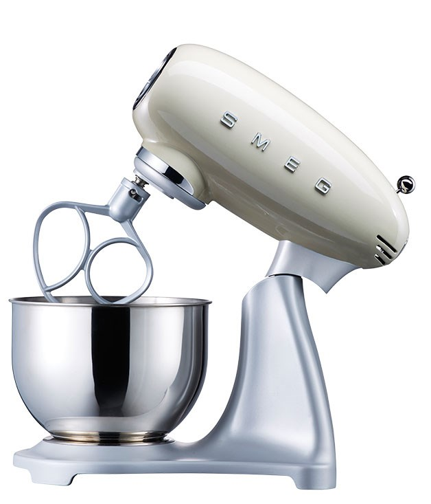 "**Smeg stand mixer SMF01** Retro-cool and packed with features, this 800-watt stand mixer has an enamel-coated stainless steel body, 10-speed variable power, and a ""planetary"" mixing action to ensure all areas of the bowl are reached. [Smeg](http://www.smeg.com.au ""Smeg""), $799, (02) 8667 4888"