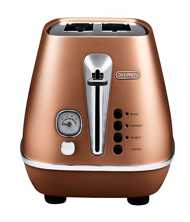 "**De'Longhi Distinta two-slice toaster CTI2003CP** With its chic lines and matte copper finish, you won't want to pack this Italian-designed 900-watt toaster away after breakfast. It boasts electronic controls, chrome-plated features and metal-wrapped touch points. [De'Longhi](http://www.delonghi.com ""De Longhi""), $169, 1800 126 659"