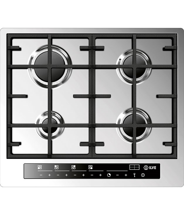 "**Ilve Piano Flushline 60cm gas cooktop ILFM604TC** Choose between a built-in flush or semi-flush top for this four-gas-burner cooktop. Features include front sensor control panels, programmable cooking times, electronic ignition, and quality cast-iron trivets. [Ilve](http://www.ilve.com.au ""Ilve""), $1999, 1300 694 583"