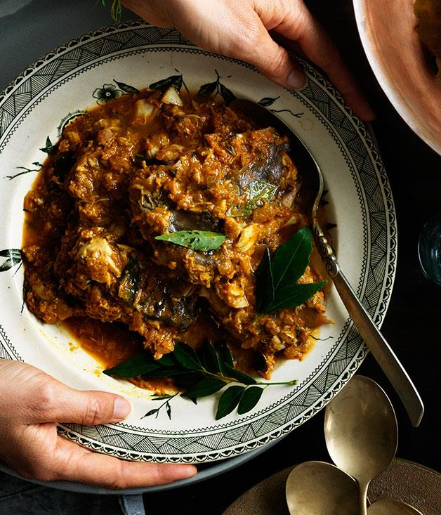 """**[Sour curry of barramundi](https://www.gourmettraveller.com.au/recipes/browse-all/sour-curry-of-barramundi-12302 target=""""_blank"""")**"""