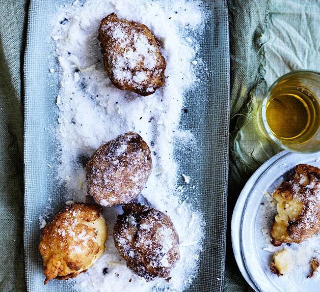 Lemon custard fritters
