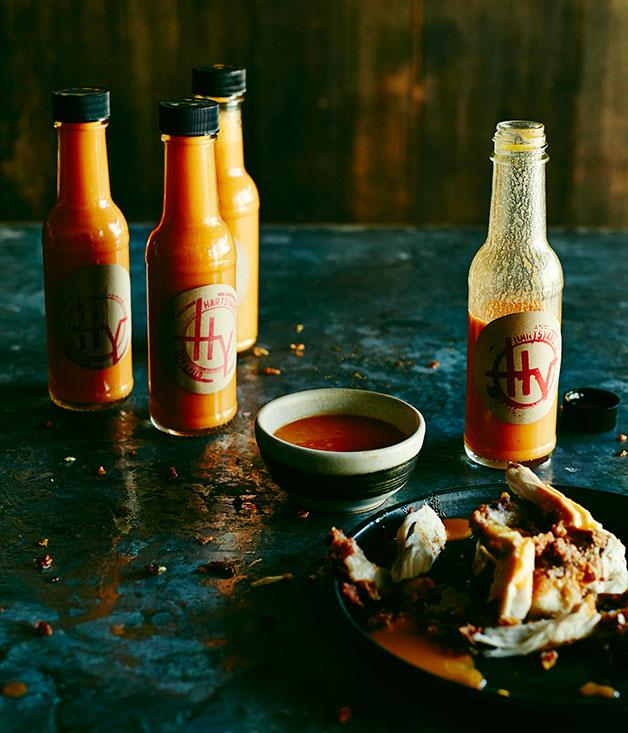 "You've been meaning to make: **hot sauce.** <br/> So make: **[Hartsyard's hot sauce](https://www.gourmettraveller.com.au/recipes/chefs-recipes/hartsyard-hot-sauce-8279|target=""_blank""