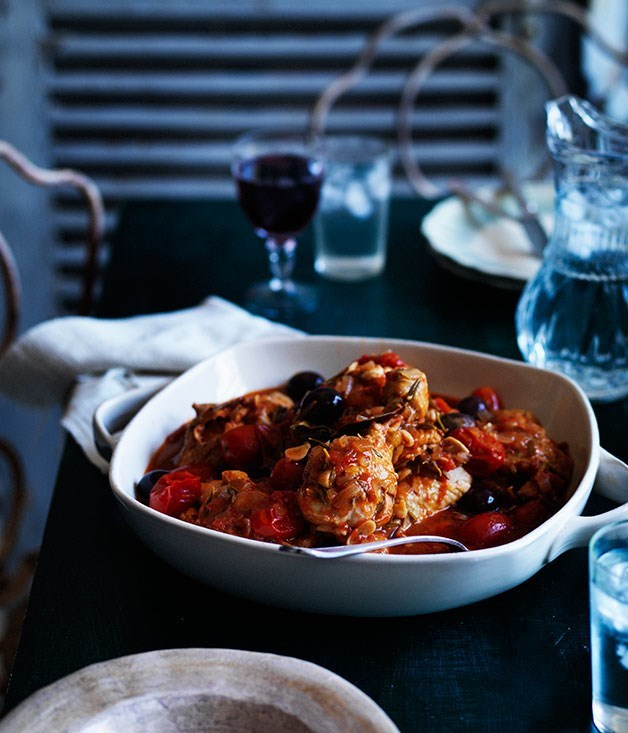 "[**Chicken Cacciatore**](https://www.gourmettraveller.com.au/recipes/browse-all/chicken-cacciatore-11917|target=""_blank"")"
