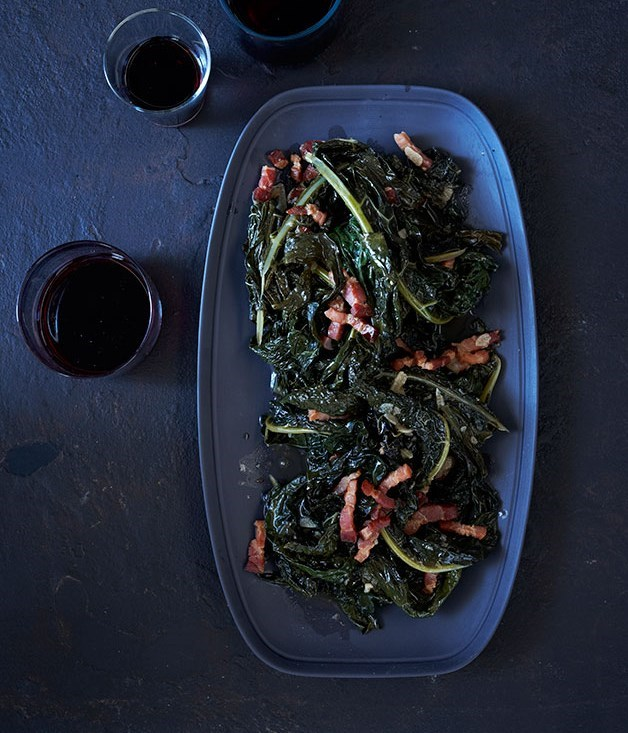 "[**Braised Cavolo Nero**](https://www.gourmettraveller.com.au/recipes/browse-all/braised-cavolo-nero-11943|target=""_blank"")"
