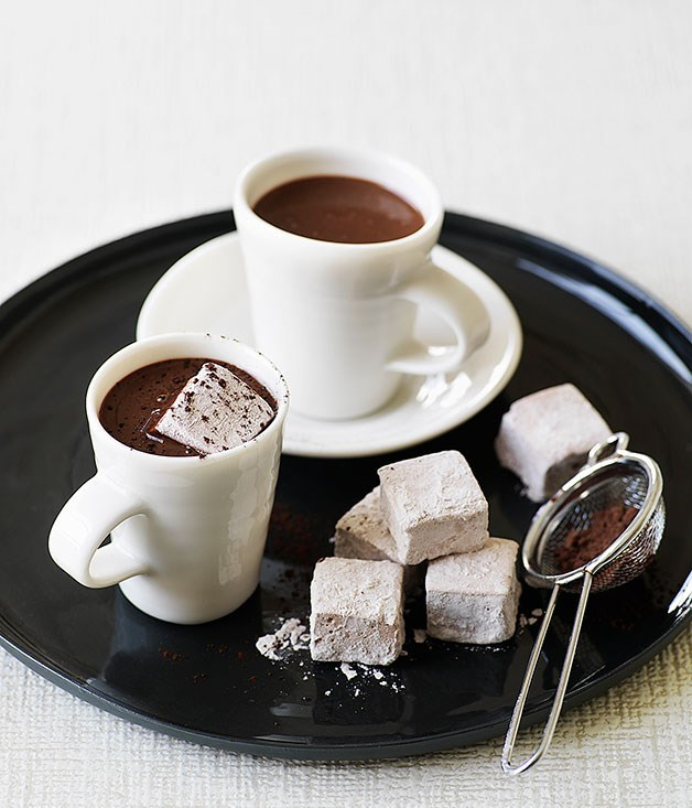 **Heart-stopping hot chocolate with chocolate marshmallows**