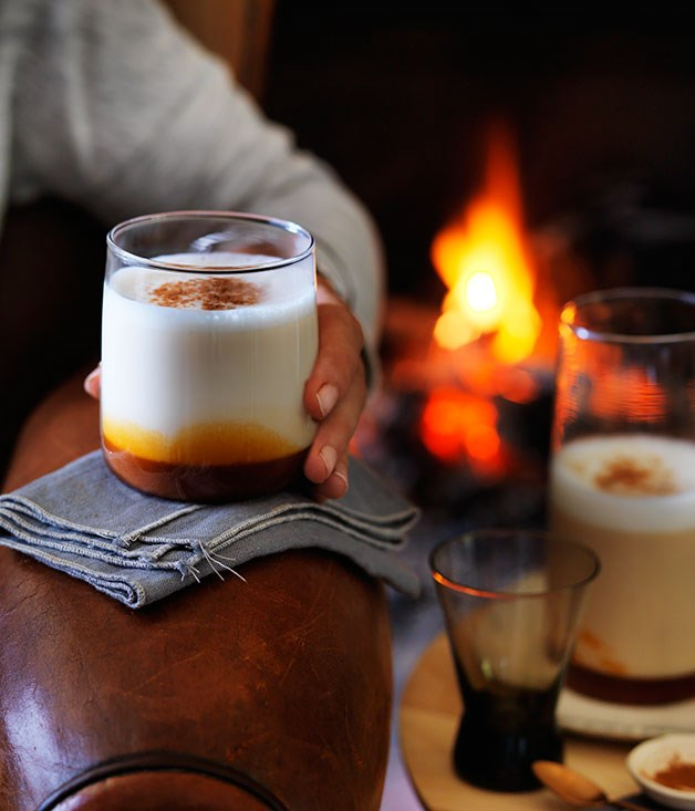 Hot caramel milk