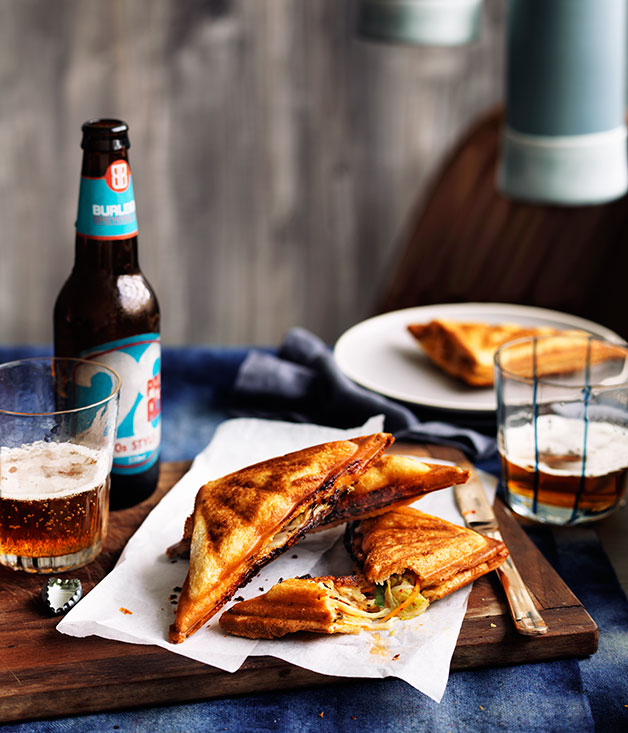"[Kimchi and cheese jaffles](https://www.gourmettraveller.com.au/recipes/chefs-recipes/kimchi-and-cheese-jaffles-9230|target=""_blank"")"