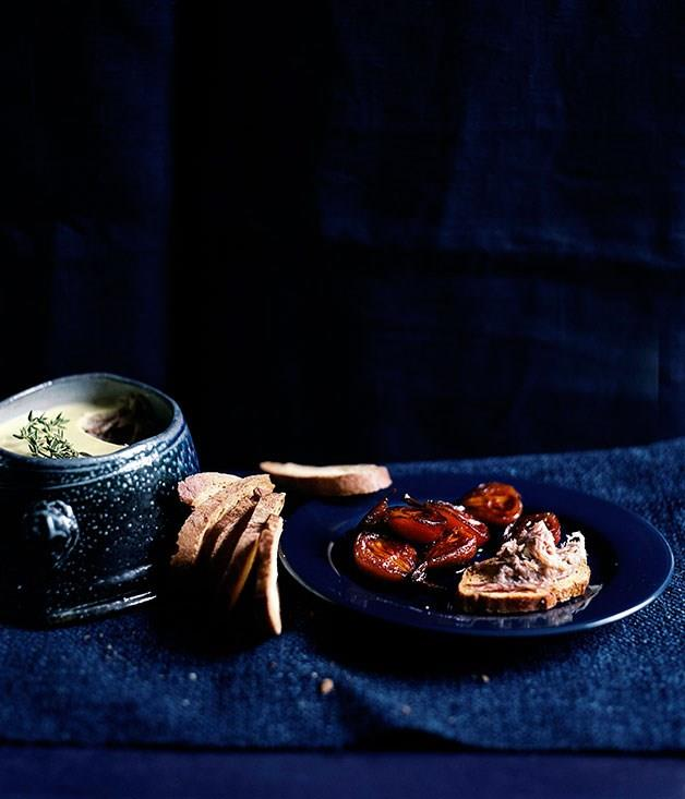 **GOOSE RILLETTES WITH PEARS IN GRAPE MUST**
