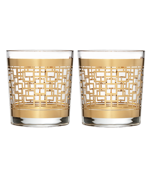 """**WATERFORD CRYSTAL """"MAD MEN"""" HOLLOWAY TUMBLERS** He's a gentleman of sorts, no doubt. And what better way to savour an Old Fashioned than in these gold-embellished [Waterford](http://www.waterfordcrystal.com.au/) tumblers? We're sure Don Draper would approve. $299 for two"""