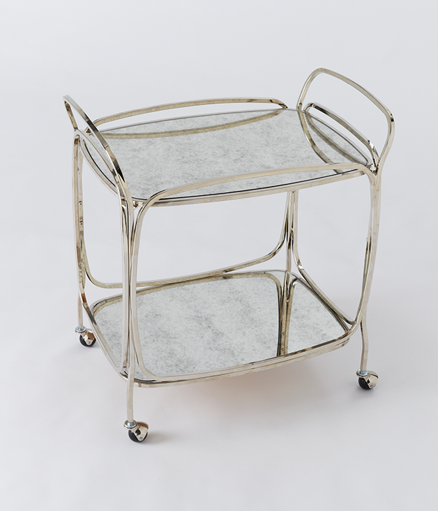 **WEST ELM FOXED MIRROR BAR CART** With two mirrored shelves and a polished metal frame, this elegant [West Elm](http://www.westelm.com.au) bar caddy is the perfect backdrop for all his favourite drinks. $549