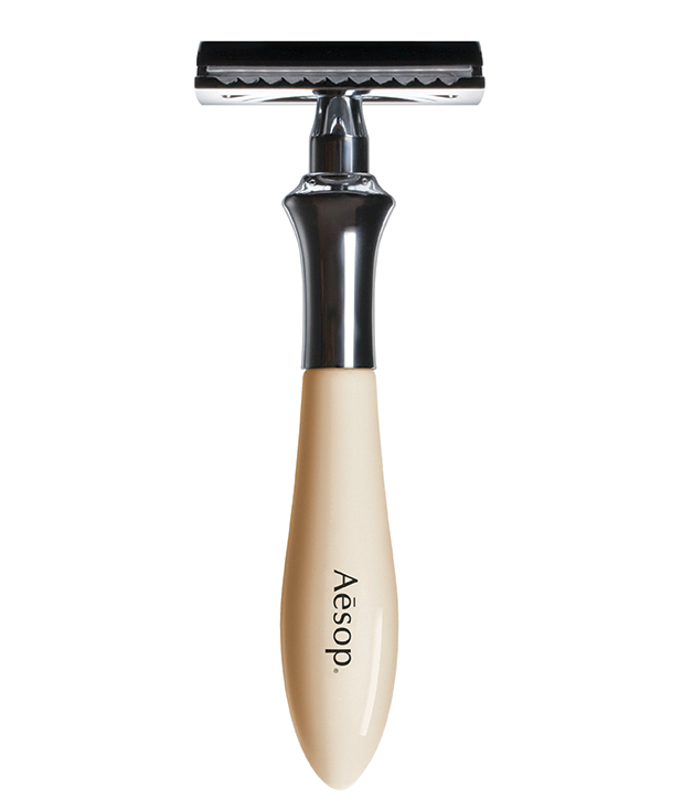 **AESOP DOUBLE-EDGE RAZOR** Old-school apothecary meets contemporary chic. This sleek little razor by [Aesop](http://www.aesop.com) is the ultimate right-hand man for his morning grooming regimen. $105