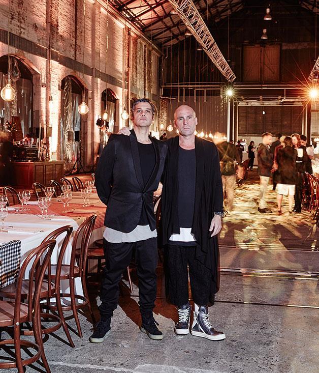 **** The evening's creative directors Giovanni Paradiso and Maurice Terzini.