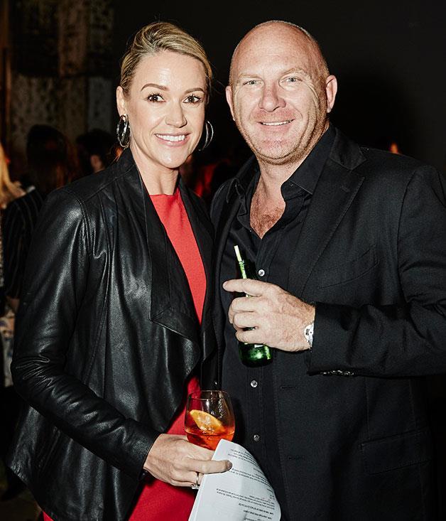**** The evening's host Leila McKinnon with Aria's Matt Moran.