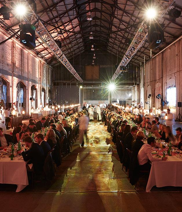 **** Dinner is served at Carriageworks.
