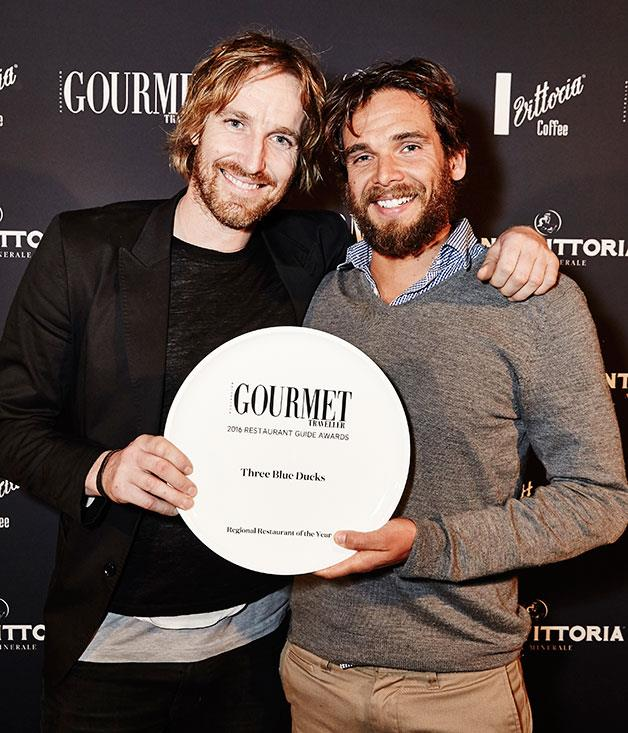 **** Darren Robertson and Mark LaBrooy from Regional Restaurant of the Year winner, Three Blue Ducks Byron Bay.