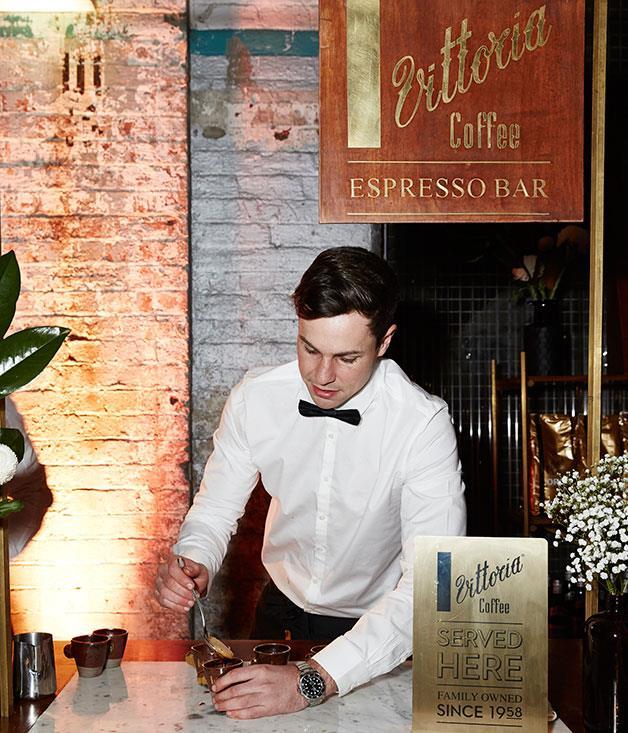 **** The Vittoria Coffee espresso bar.