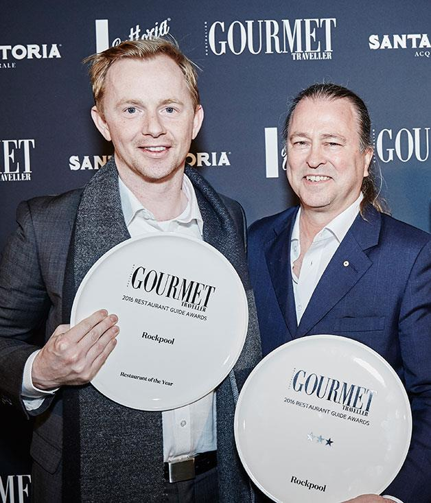 **** Phil Wood and Neil Perry of Restaurant of the Year, Rockpool.