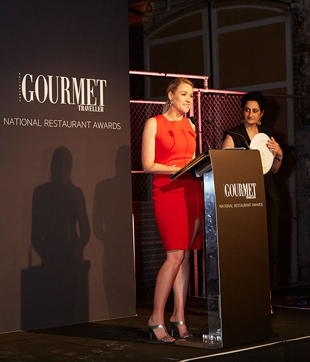 **** Channel Nine's Leila McKinnon and _Gourmet Traveller_ editor, Anthea Loucas.
