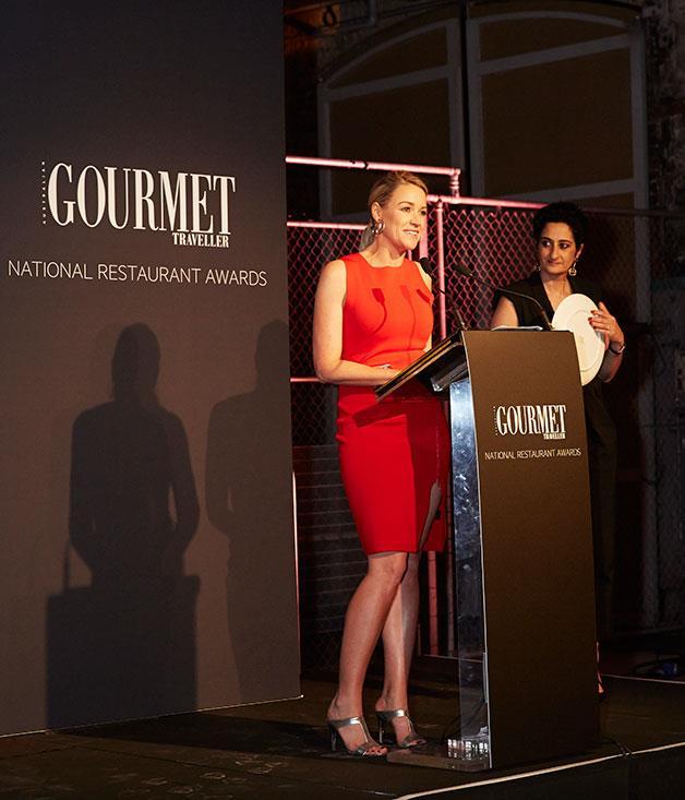 **** Channel Nine's Leila McKinnon and _Gourmet Traveller_ editor, Anthea Loucas.