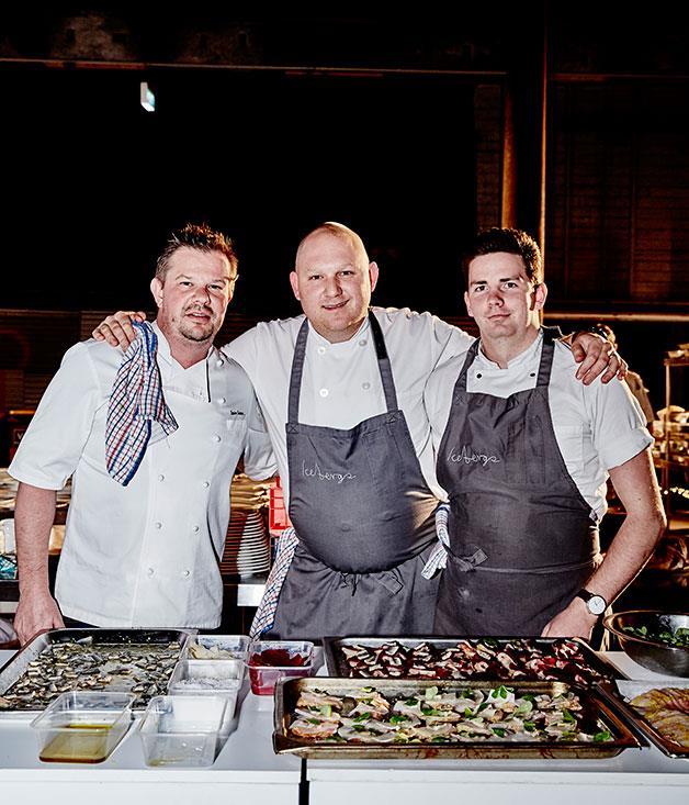 **** Chefs Simon Sandall (Morsul), Monty Koludrovic (Icebergs) and Alex Prichard.
