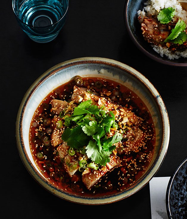 White Cut Chicken Aromatic Chilli Oil And Peanuts Recipe Victor Liong Lee Ho Fook Melbourne