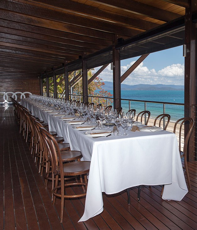 **** The table is set for Kylie Kwong's Audi lunch at Pebble Beach, Qualia.