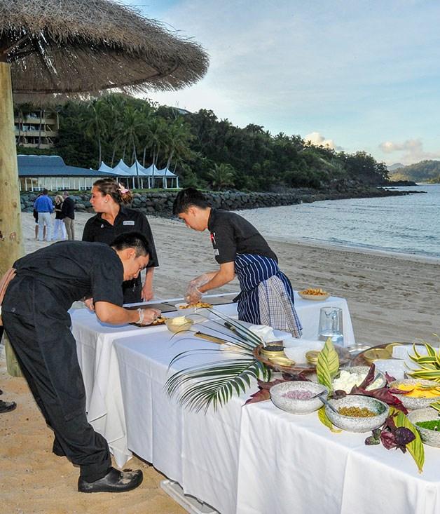 **** Preparations for Shannon Bennett's Progressive Dinner, Hamilton Island.