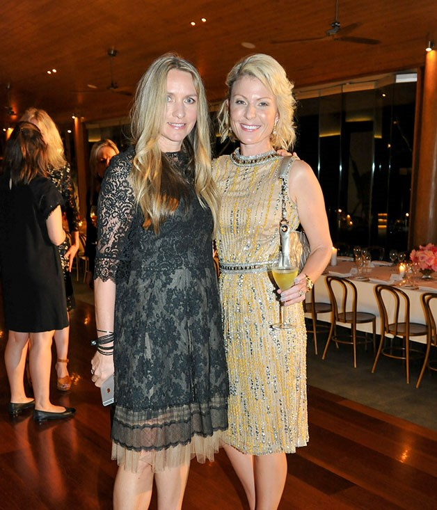 **** Designer Collette Dinnigan and Hamilton Island's Nicky Tindill at Qualia's Long Pavilion.