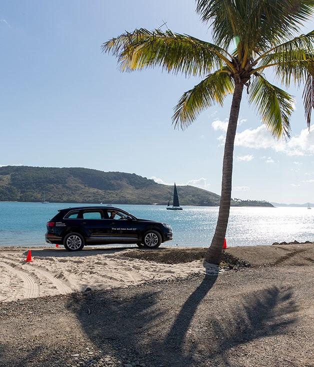 **** An Audi Q7 hits the beach.
