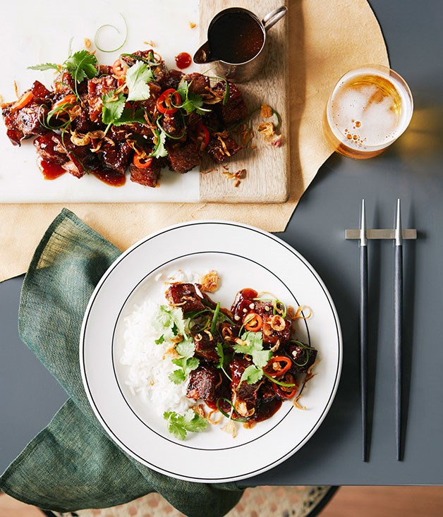 Crisp sweet and sour pork hock