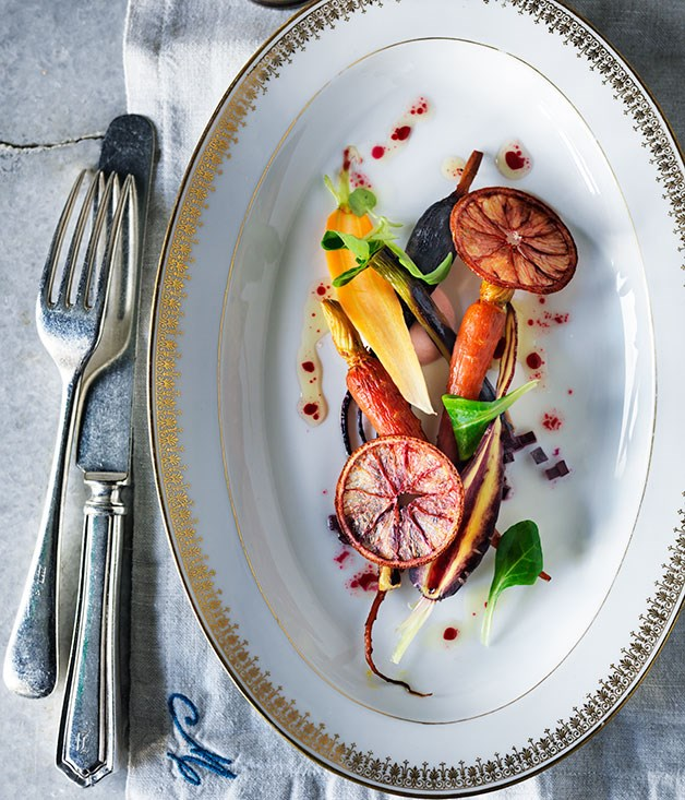 "[Curtis Stone's carrot-beetroot salad](http://www.gourmettraveller.com.au/recipes/chefs-recipes/carrot-beetroot-salad-8317|target=""_blank"")"