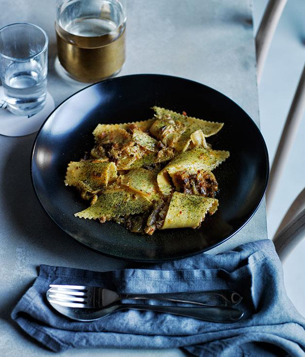"[**Acme's maltagliati with washed kimchi and guanciale**](https://www.gourmettraveller.com.au/recipes/chefs-recipes/maltagliati-with-washed-kimchi-and-guanciale-8321|target=""_blank"")"