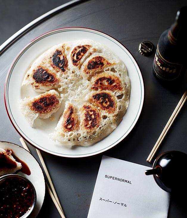 **Prawn and chicken pot-sticker dumplings**