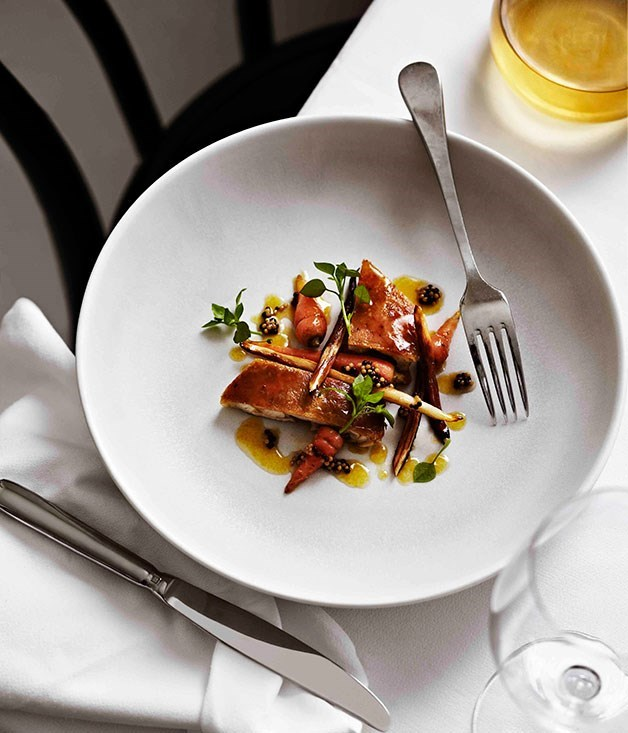 "[**Chicken with carrots cooked in Sauternes**](https://www.gourmettraveller.com.au/recipes/browse-all/chicken-with-carrots-cooked-in-sauternes-11281|target=""_blank"")"