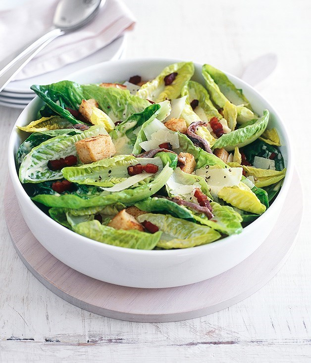 "[**Caesar salad**](https://www.gourmettraveller.com.au/recipes/fast-recipes/caesar-salad-9490|target=""_blank"") <br><br> You can't go wrong with a classic Caesar. Bacon, parmesan, sourdough croutons – it's one for the ages."