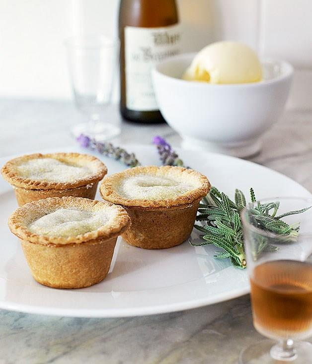 """**[Rhubarb pies and lavender ice-cream](https://www.gourmettraveller.com.au/recipes/browse-all/rhubarb-pies-and-lavender-ice-cream-9723