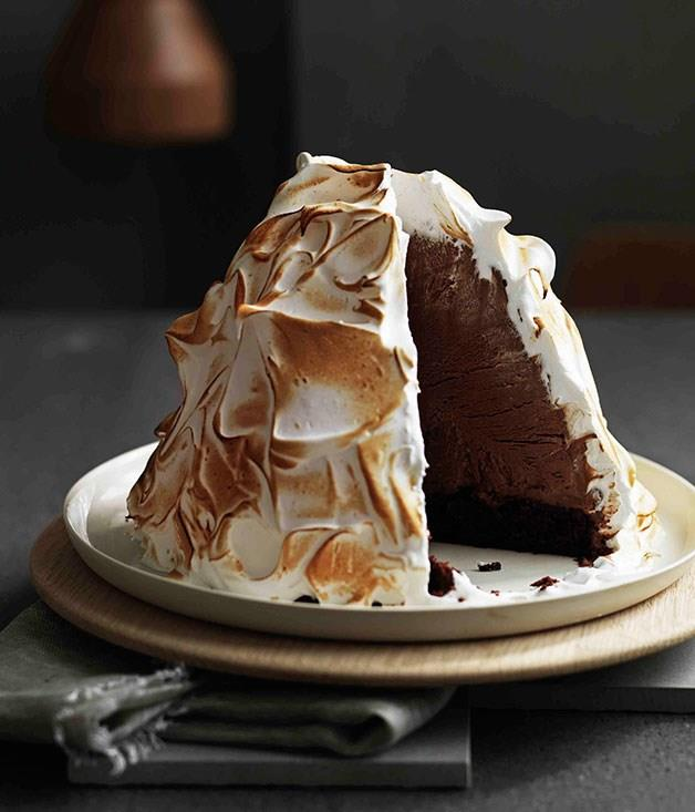 "**[Guinness and chocolate ice-cream bombe Alaska](https://www.gourmettraveller.com.au/recipes/browse-all/guinness-and-chocolate-ice-cream-bombe-alaska-11251|target=""_blank"")**"