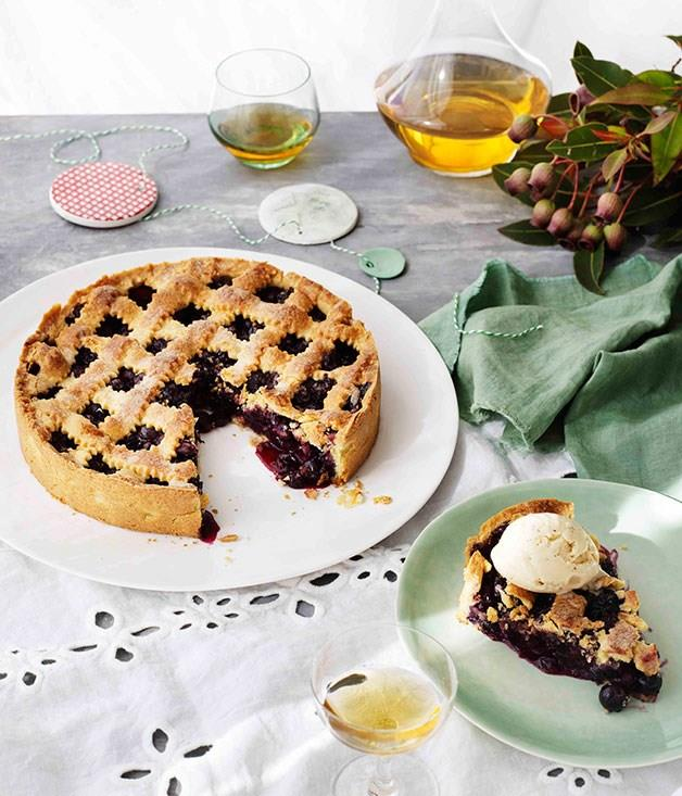"**[Blueberry crostata with hazelnut ice-cream](https://www.gourmettraveller.com.au/recipes/browse-all/blueberry-crostata-with-hazelnut-ice-cream-11172|target=""_blank"")**"