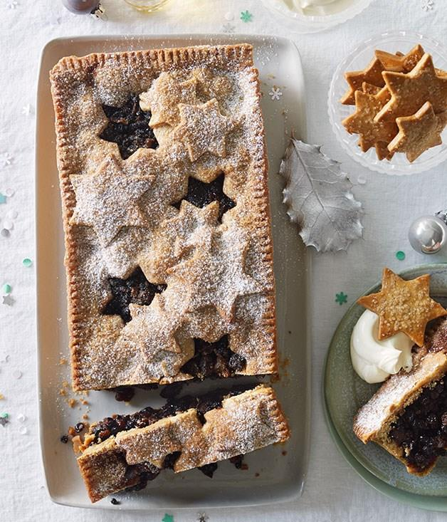 """[**Sour cherry and chocolate fruit mince tart**](https://www.gourmettraveller.com.au/recipes/browse-all/sour-cherry-and-chocolate-fruit-mince-tart-11848 target=""""_blank"""")"""