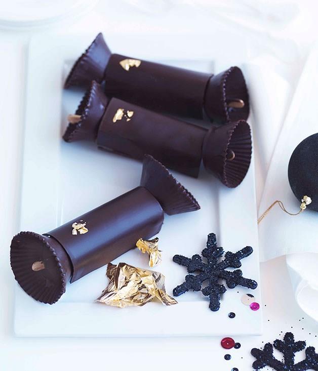 """[**Gianduja Christmas crackers**](https://www.gourmettraveller.com.au/recipes/chefs-recipes/adriano-zumbo-gianduja-christmas-crackers-7355 target=""""_blank"""")"""
