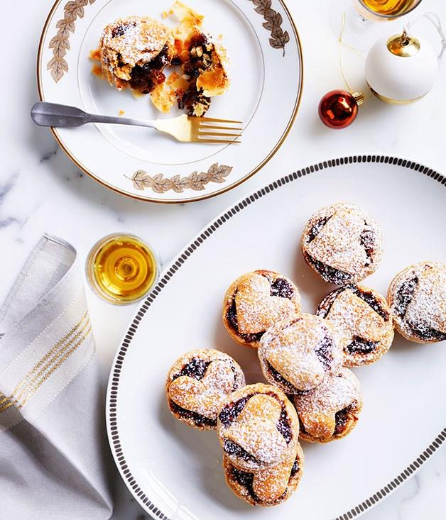 "[**Fruit mince tarts**](https://www.gourmettraveller.com.au/recipes/browse-all/fruit-mince-tarts-14216 target=""_blank"")"