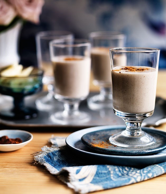 "[**Coconut, banana and cinnamon crush**](https://www.gourmettraveller.com.au/recipes/browse-all/coconut-banana-and-cinnamon-crush-11963|target=""_blank"")"