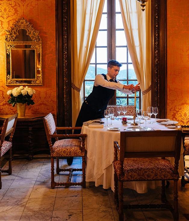 **** The restaurant at Château de la Treyne in Lacave