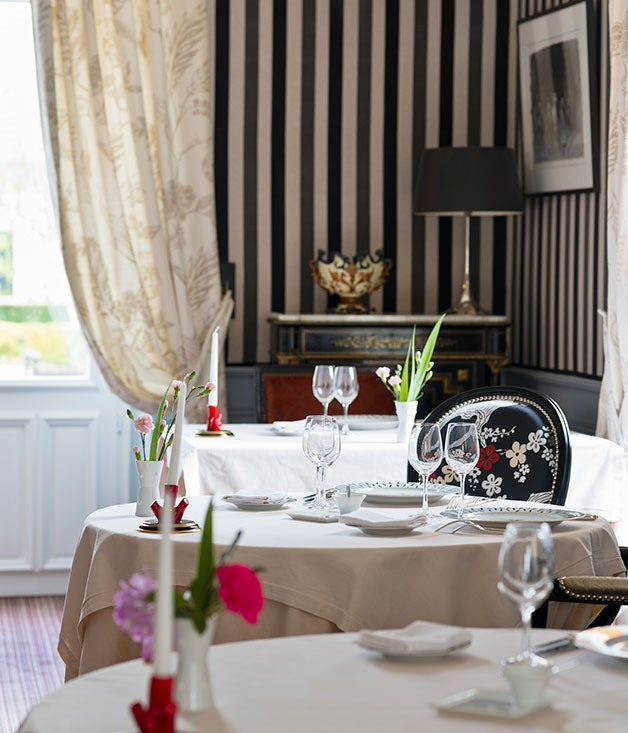 **** The dining room at La Chapelle Saint-Martin