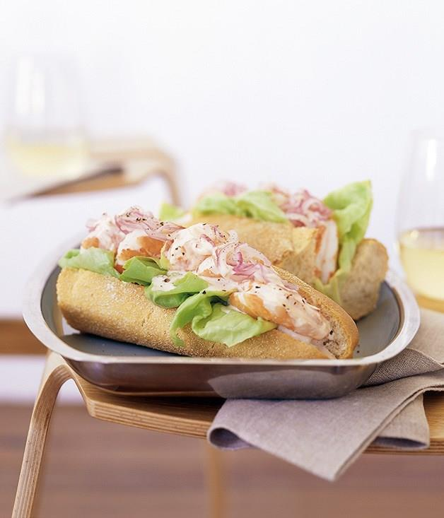 "[**Prawn cocktail sandwiches**](https://www.gourmettraveller.com.au/recipes/fast-recipes/prawn-cocktail-sandwiches-9516|target=""_blank"")<br>"