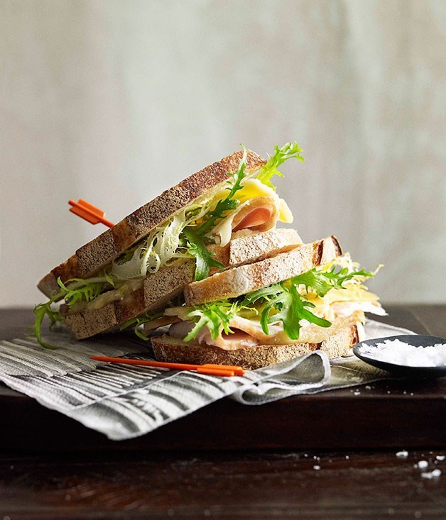 "[**Roast turkey sandwich**](https://www.gourmettraveller.com.au/recipes/chefs-recipes/thomas-keller-roast-turkey-sandwich-7452|target=""_blank"")<br> The apple butter works well because it adds moisture. A little allspice and clove adds a bit of kick to it too."