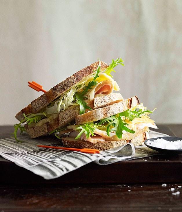 "[**Roast turkey sandwich**](https://www.gourmettraveller.com.au/recipes/chefs-recipes/thomas-keller-roast-turkey-sandwich-7452|target=""_blank"")<br>"